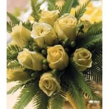 Bouquet de roses crèmes