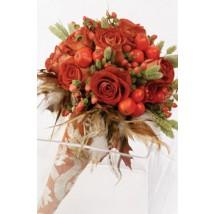 Bouquet au tons orangés