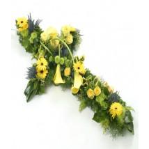 Croix jaune & vert