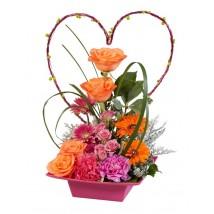 Arrangement fleurs fraîches