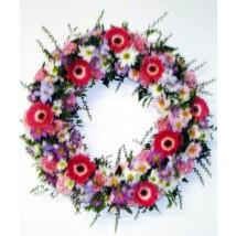 Couronne de fleurs mélangées