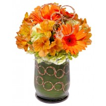 fleurs ciel orange