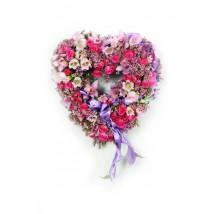 Coeur tendre rose