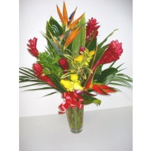 Vase de fleurs exotiques